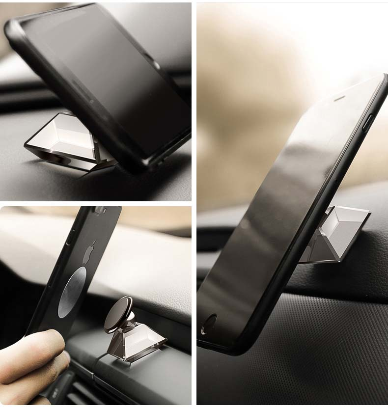 Universal Car Mobile Holder Free rotating car phone holder magnetic Mount for All Smartphones