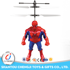 Factory price plastic mini rc induction model flying top toy