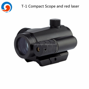 T-1 1X22 green and red dot scope with red laser sight