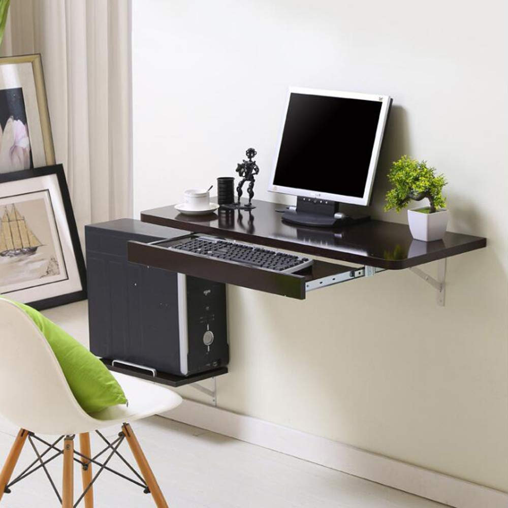 Stands DD Wall-Mounted Computer Desk Desktop Household Space Saving Wall-Mounted Wall Table Computer Desk -Convenient Table