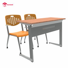 wooden university college school classroom study table and chair for students