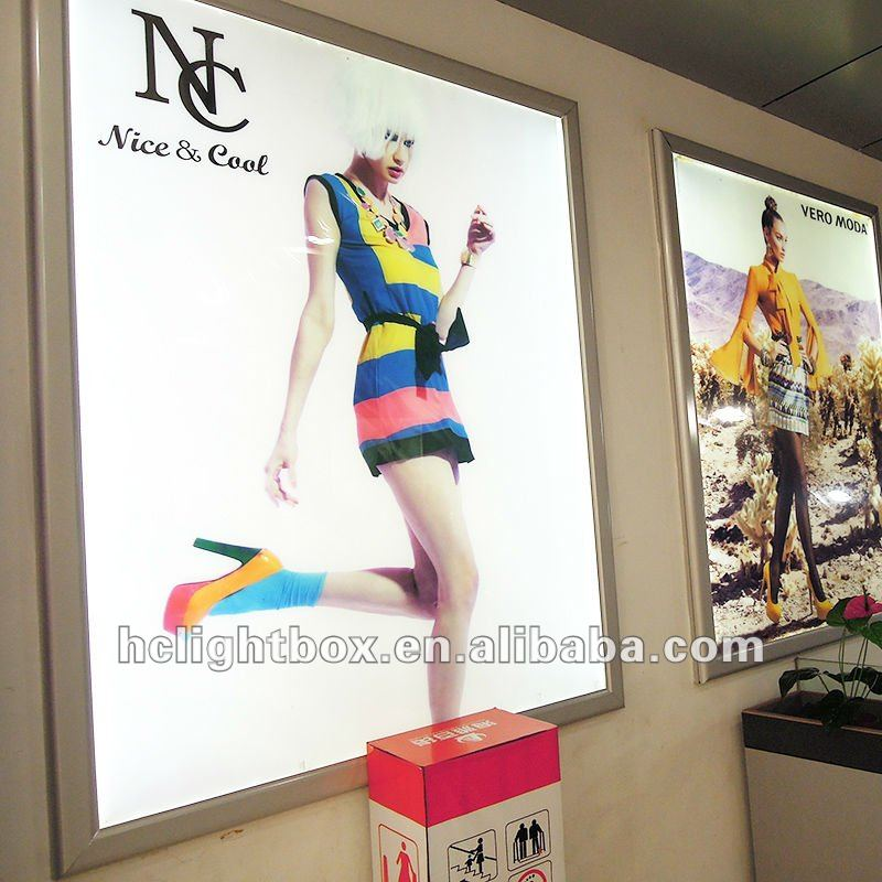 LED Aluminum advertising display frame