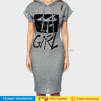 77e743836ae Ladies plus size short sleeve pullover sport bodycon t-shirt dress casual  printed big letter