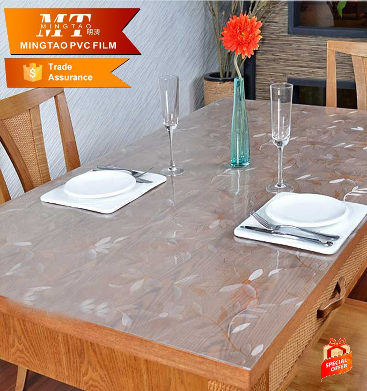 Clear Transparent Plastic Sheet Tablecloth EVA Table Cloth