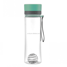 Color Random Plastic protein powder Powder Shake Cup fitness Shaker Bottle Sport Cup with wire whisk mixer ball