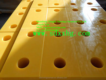 Yellow UPE docking bumpers/ dock-safe receiver block form part
