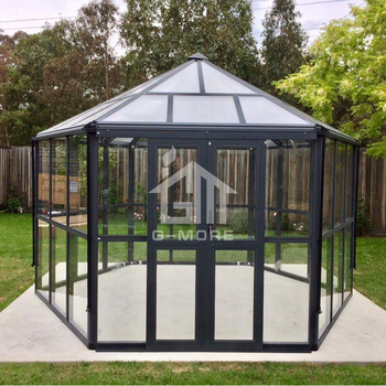 G-MORE Latest New Style Hexagon Series, Super Strong Luxury Aluminium/Tempered Glass Leisure House (GM36002)