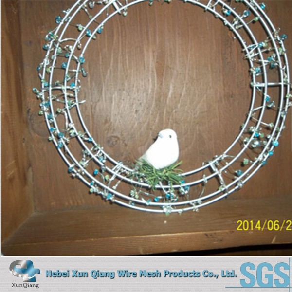 3mm electro galvanized wire wreath forms