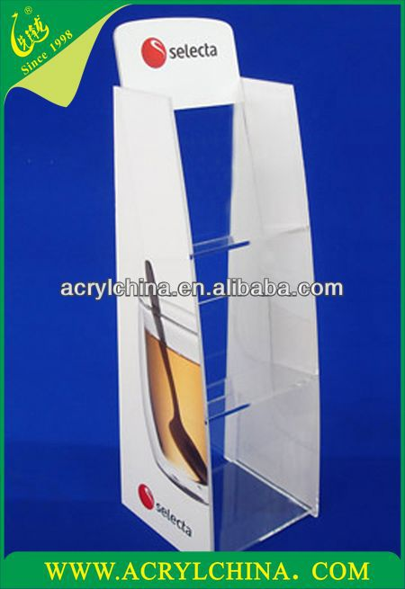 Acrylic standing unit made from 5mm clear acrylic with full vinyl graphics applied