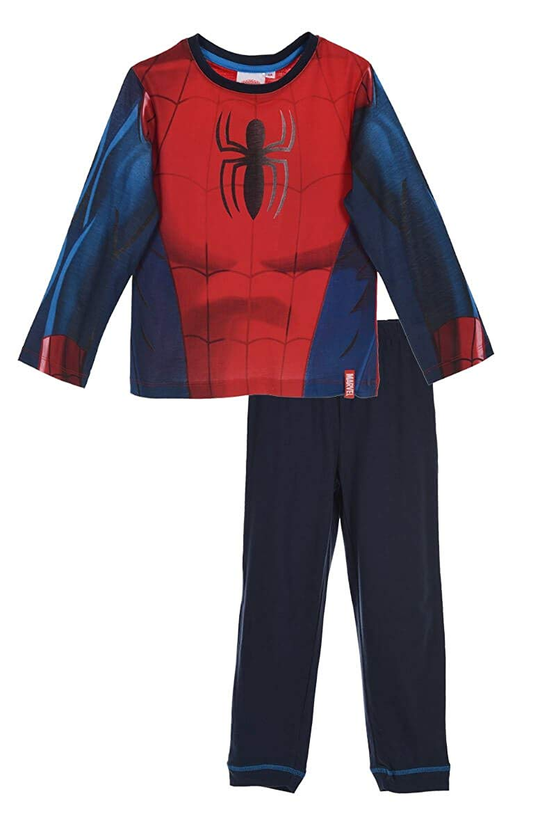 afa69cd6c9 Get Quotations · Spiderman Pajama Set T Shirt With Long Sleeves And Pants
