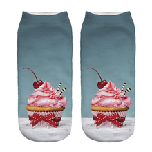 Free Shipping Hot Sale 3D Socks Pink Cherry Pattern Cozy Socks Thin Comfortable Socks