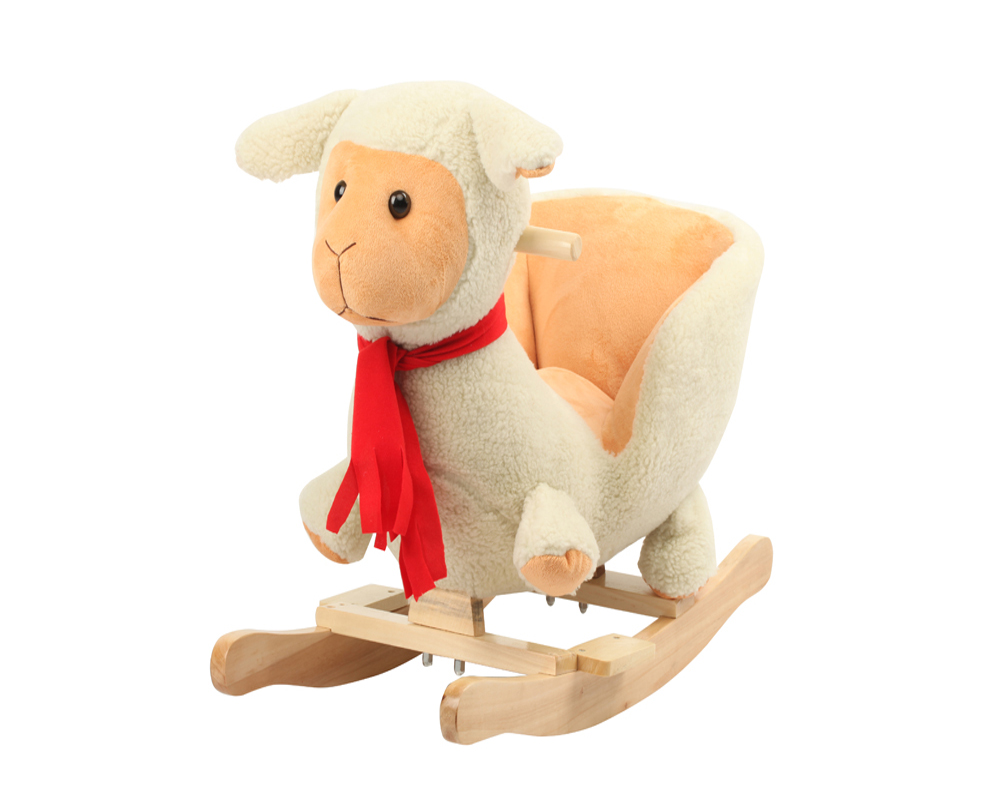 Awesome 60X32X55Cm Promotional Hot Sale Customized Baby White Plush Lamb Farm Animal Rocking Chair Toy With Musicwooden Base Buy Plush Animal Rocking Inzonedesignstudio Interior Chair Design Inzonedesignstudiocom