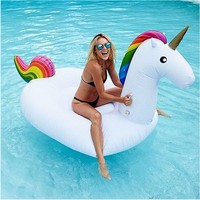 giant inflatable pvc unicorn pool floats toys blow up pool animals