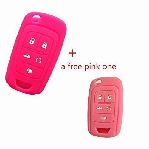 2pcs Silicone Fob Skin Key Cover Holder Key Jacket Key Protector Fob Remote for Chevrolet Camaro Cruze Volt Equinox Spark Malibu Sonic Flip Remote Key Case Shell 5 BTN BK