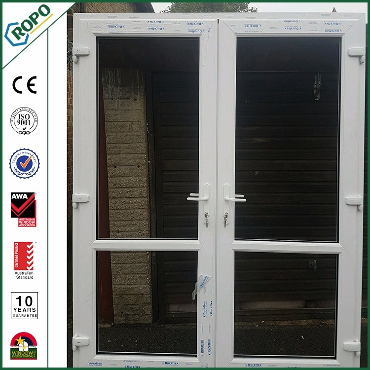 Country Style Cheap Hollow Core Interior Casement Doors With Glass Inserts