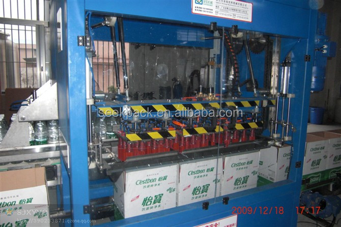 packing machine case packing machine of drink bottle, PET bottle