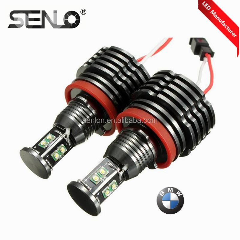 Error free canbus H8 e92 80W high quality LED Angel Eyes light for BMW X5 E70 X6 E71 E90 E91 E92 M3 LED Marker