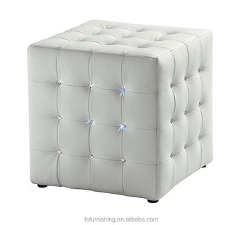 Excellent Jr 04 Modern Contemporary White Color Genuine Leather Crystal Tufted Leisure Neoclassic Square Stools Ottoman Chair Buy Neoclassic White Leather Creativecarmelina Interior Chair Design Creativecarmelinacom