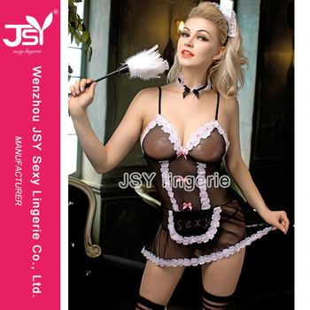 Plus size maid lingerie casually