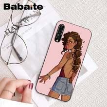 Babaite новая популярная Эстетическая арт черная девушка черный чехол для телефона для HuaweiP9 P10Plus Mate9 10 Mate10 LiteP20 Pro Honor10 vision 10(Китай)