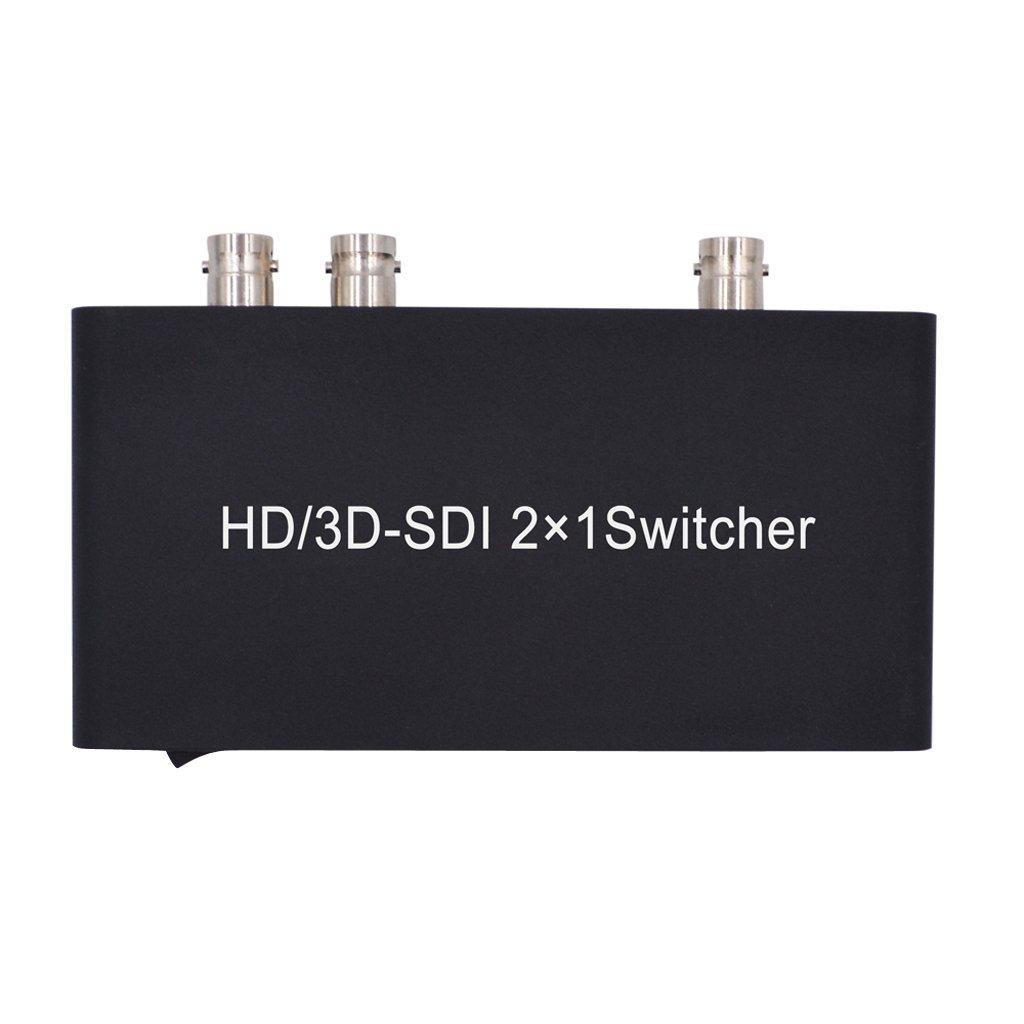 Dolity SDI 2x1 Splitter Switcher Supports HD-SDI SD-SDI 3G-SDI Signals 2 in 1 out