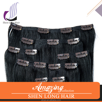 High Quality Wholesale Natural Color Clip In Hair Extensions
