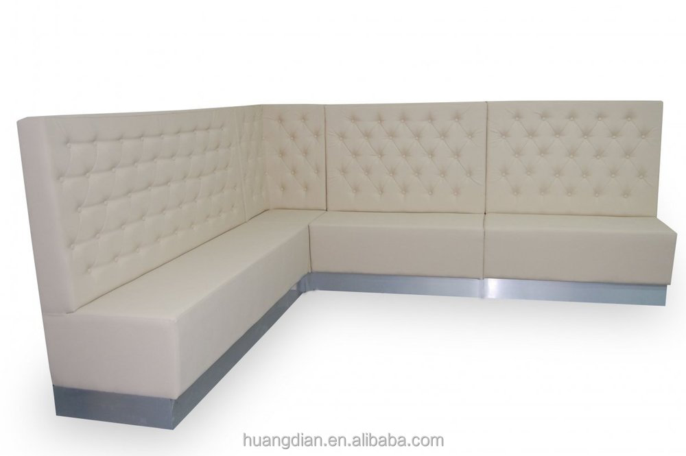 White Fast Food Restaurant Booth Seating For Sale Corner Dining Booth