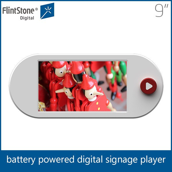 Hotel/elevator battery powered lcd screen,supermarket lcd advertising screen 9inch Flintstone