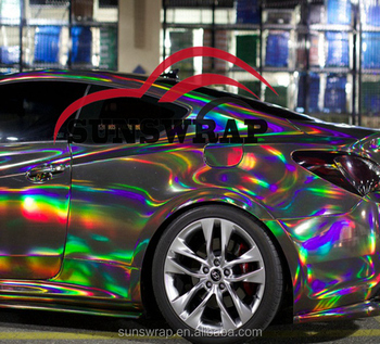Rainbow Mirror Chrome Holographic Film Glossy Chrome 3m Car Wrapping Vinyl