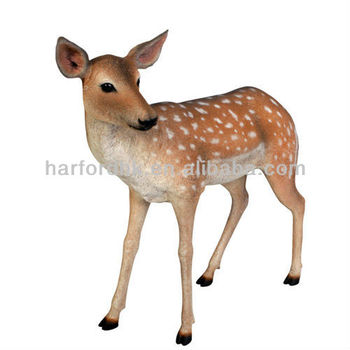 giant life size fallow deer fiberglass resin garden animals ornament - Garden Animals