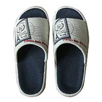 Atacado PVC calcanhar de verão ao ar livre chinelos de sola de calçado de pele real da pele de fox slides
