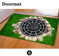 Customized high definition verisimilitude 3D printed Manhole covers floor door mat for Living Room BathRoom Decorative mat