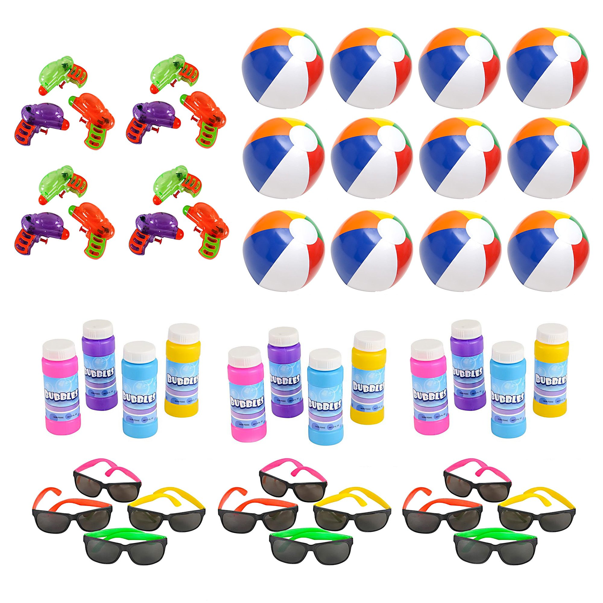 3c83a4bb35 Get Quotations · Mega Pool Party and Beach Party Favors - Summer Fun Toy  Mega Assortment Bulk Pack of