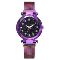 5111 Simple Fashion Women Wristwatch Light Dial Analogue Quartz Stainless Steel Mesh Band Watch