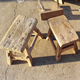 Chinese antique vintage furniture rustic recycle wood children stool baby stool kids stool