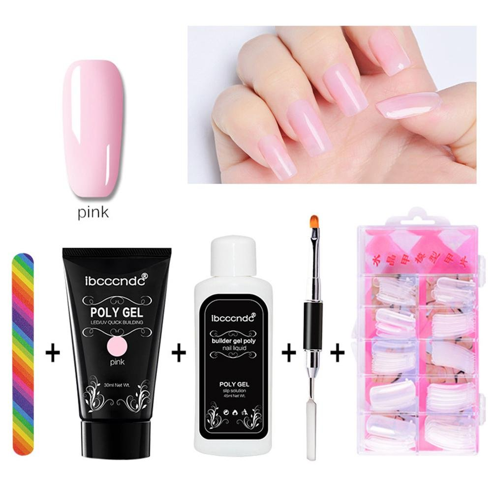 Get Quotations Nail Art Kit Pawaca Poly Gel Tips Extension Finger Quick Builder Tools Set