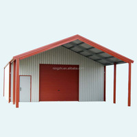 Pole barn machine shed for large farm equipment