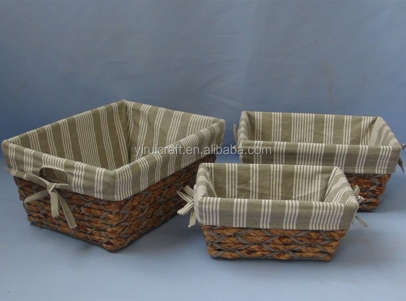 Hot new style customized corn husk and cotton rope storage basket