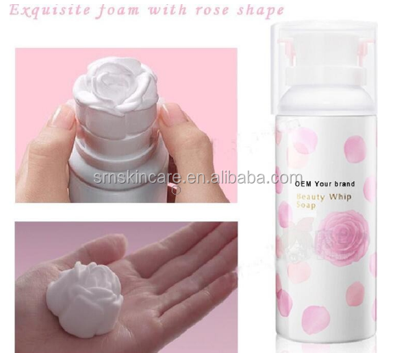 OEM Moisturizing Soothing Beauty 3D Rose face cleanser