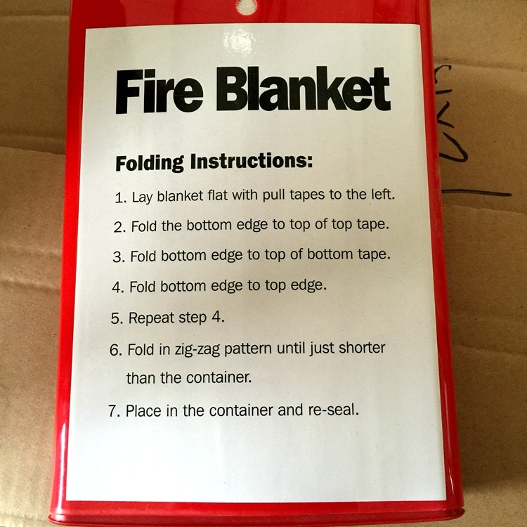 840gsm 1mm Different Specification Fire Blanket Types Of