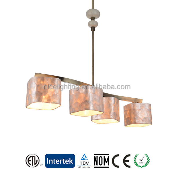 Modern steel metal shell and shade pendant lamp