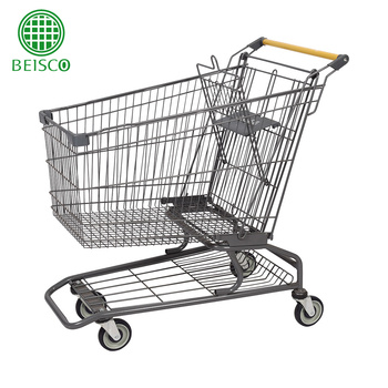 Wholesale Cheap Price Supermarket Push Cart Retail Grocery Metal