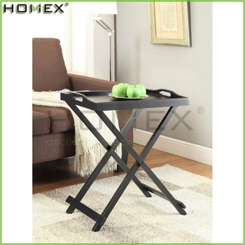 Dark Espresso Wooden Folding Tray Table Foldable End Homex Bsci Factory