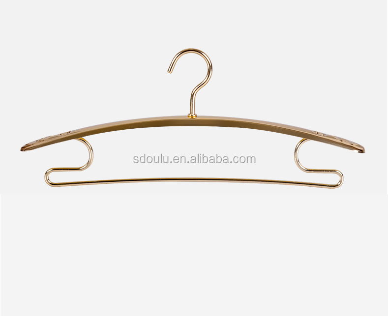 Eco-friendly material ultra light colorful aluminum clothes hanger with pants notches