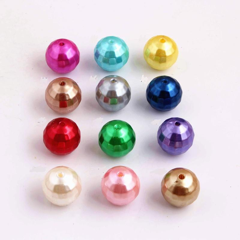 20MM Bulk Chunky Acrylic Imitation Pearl Disco Beads