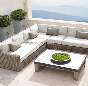Customized classic outdoor rattan sectional sofa with recliner and loveseat big lots living room furniture