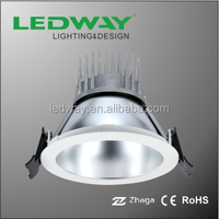 12W 5 inch COB LED down light with fixed beam angle die-casting aluminum housing recessed downlight