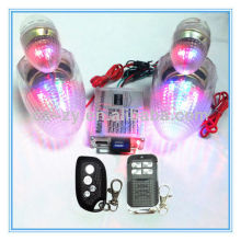 scooter mp3 player/alarm siren system with led light/bike security alarm