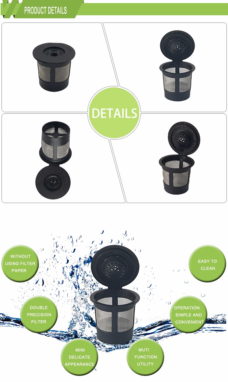 Heiße Verkäufe keurig 1,0 & 2,0 K Tasse wiederverwendbarer Kaffeefilter 6 Stück / Karton