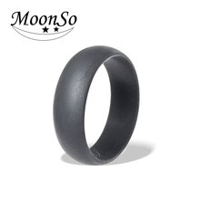 HOT!! Unisex grey black blue silicone engagement wedding ring for men women finger fashion jewelry 2016 Moonso KR2173